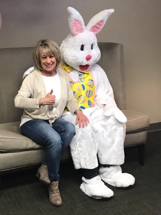 Sue with Bunny