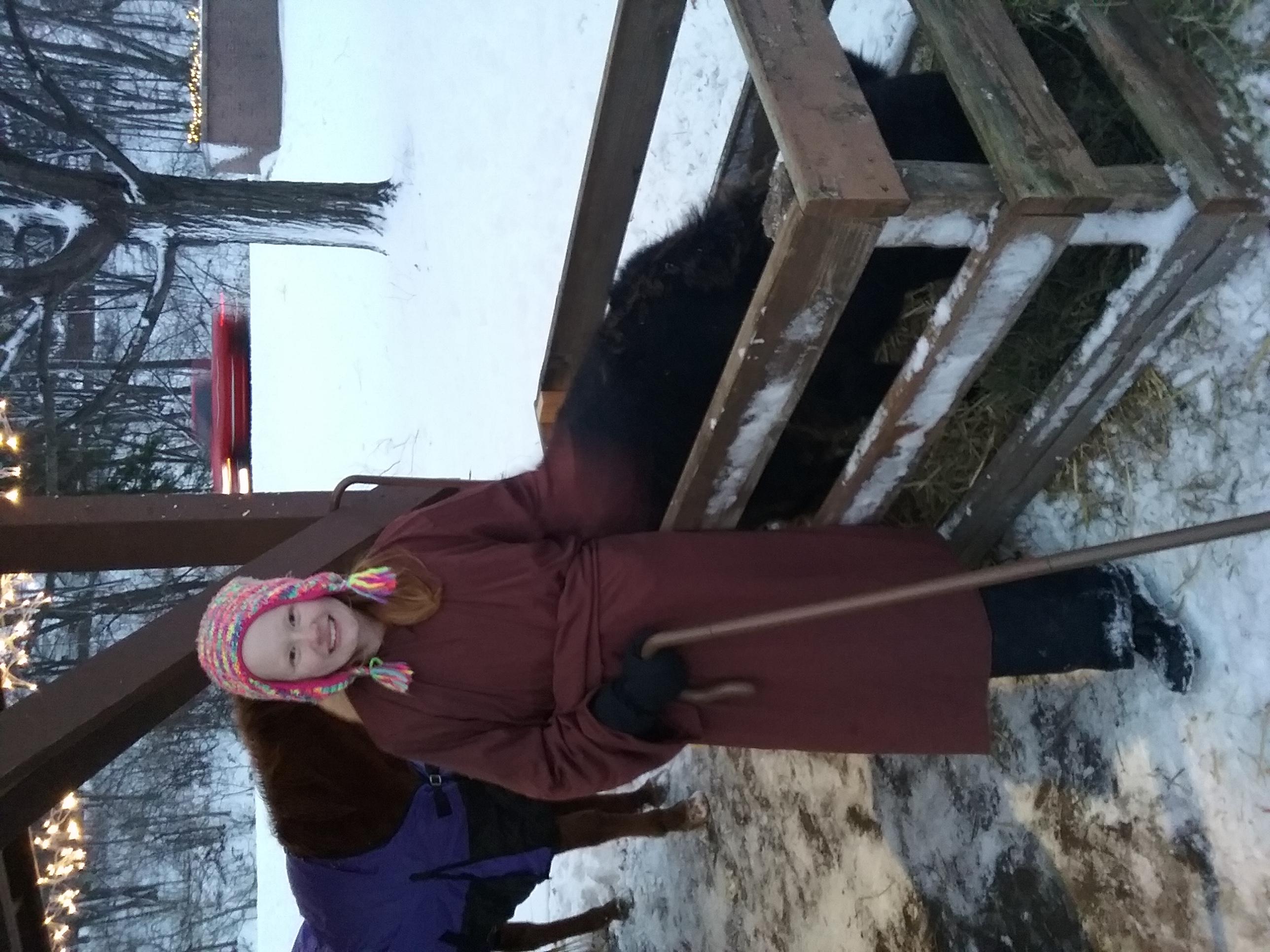 live nativity calf
