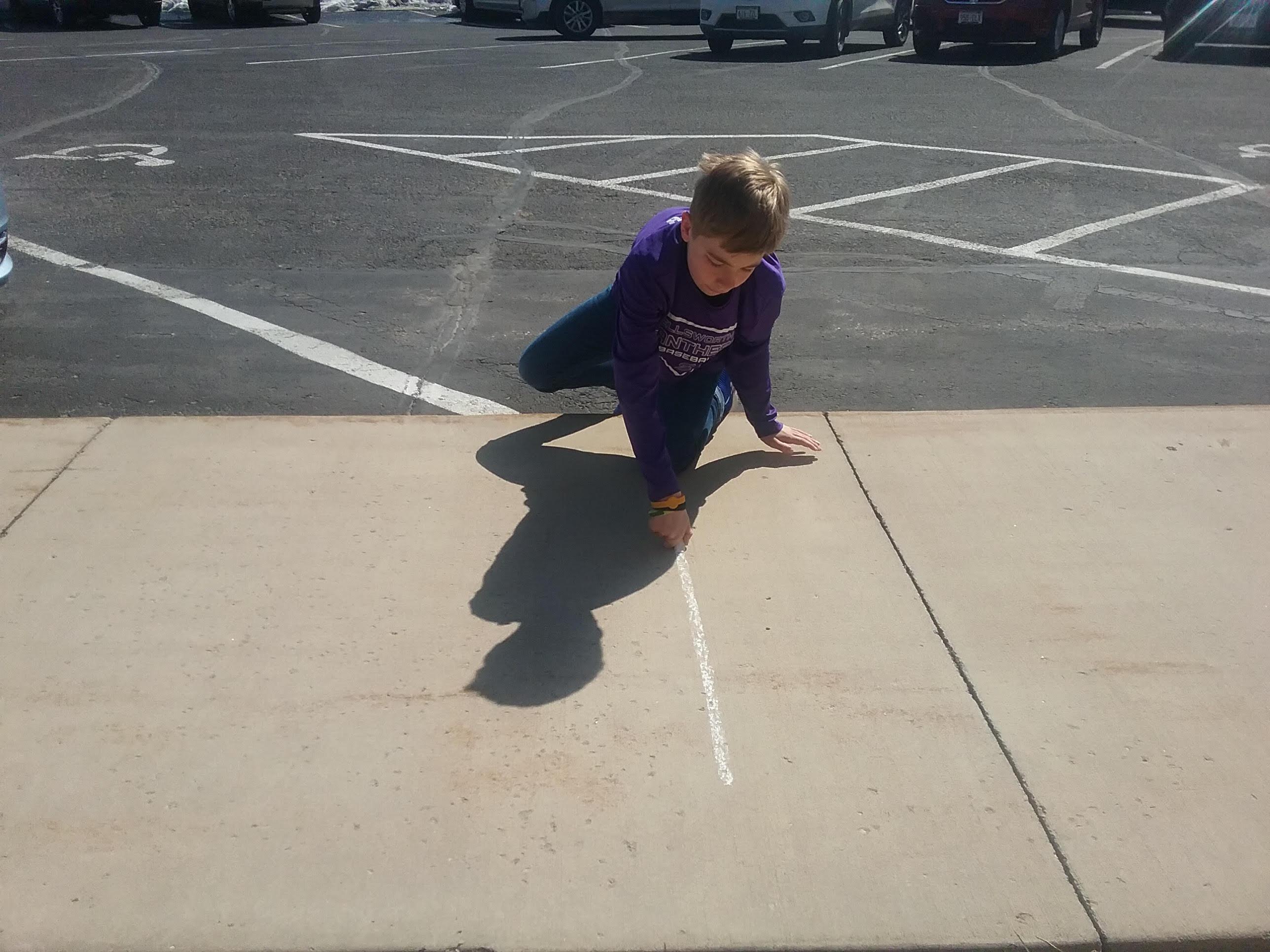 sunday school sidewalk chalk