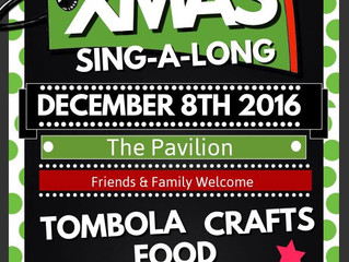 Rehearsals underway for our Christmas Sing Song