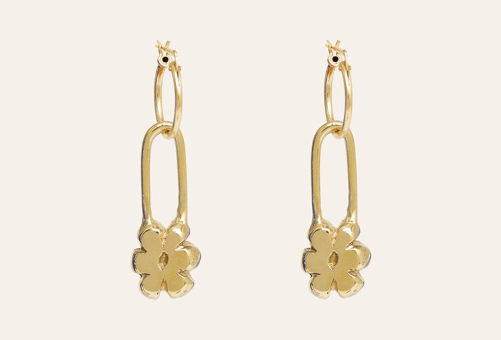 Flower Pin Earrings
