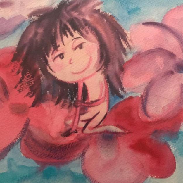 Vermillion Flower Girl