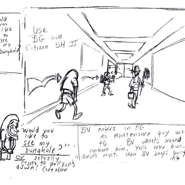 Cornholio thumbnail sketch