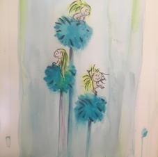 Triplet Flower Girls
