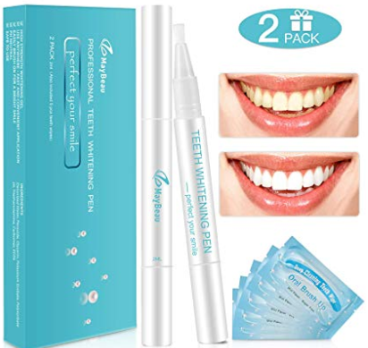 Teeth Whitening Gel Pen Kit with Free Gi