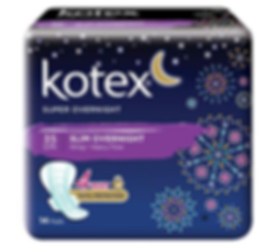 Kotex Super Overnight Feminine Care Pads