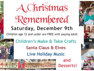 A Florida Christmas Remembered - Save the date!  Saturday, December 9, 2017
