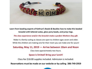 Beaded Bracelet Class to Honor Moms