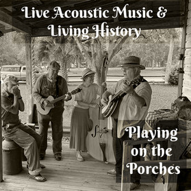 Join us for Playing on the Porches - December 5th, 2020. Shop with our Arts & Crafts Vendors too!