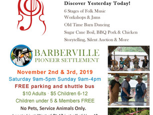 43rd Annual Fall Country Jamboree November 2nd and 3rd, 2019