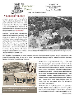 Pioneer Settlement Newsletter - end of y