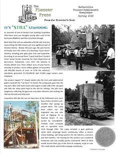 Pioneer Settlement Newsletter - Spring 2