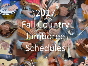See the Jamboree schedule! Performances, jams, workshops and dances for next weekend's Fall Coun