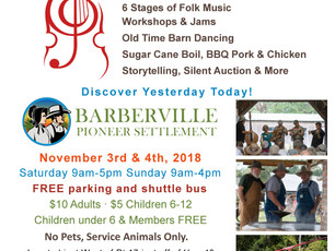 Just released - Entertainment Schedules & Map - November 3rd & 4th - Fall Country Jamboree