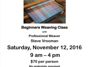 Back by Popular demand...Learn to Weave with Steve