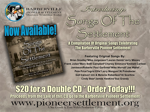 Songs of the Settlement CD