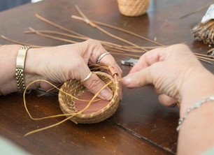Pine Needle Basket Weaving & Blacksmithing, Candle Making and Woodworking Demos are on tap for