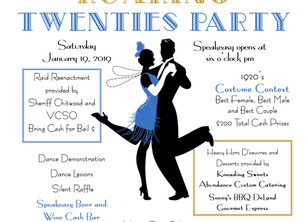 Tickets are still available for our Roaring Twenties Party! Celebrating 100 years.