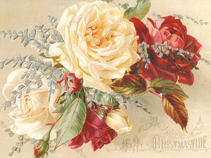 Happy Christmastide! Hope you enjoy this Antique Christmas Post Card from 1874-1895
