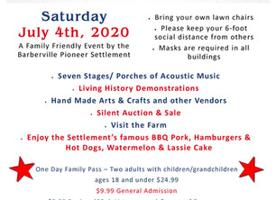 Celebrate Independence Day with us - Saturday, July 4th - Playing on the Porches