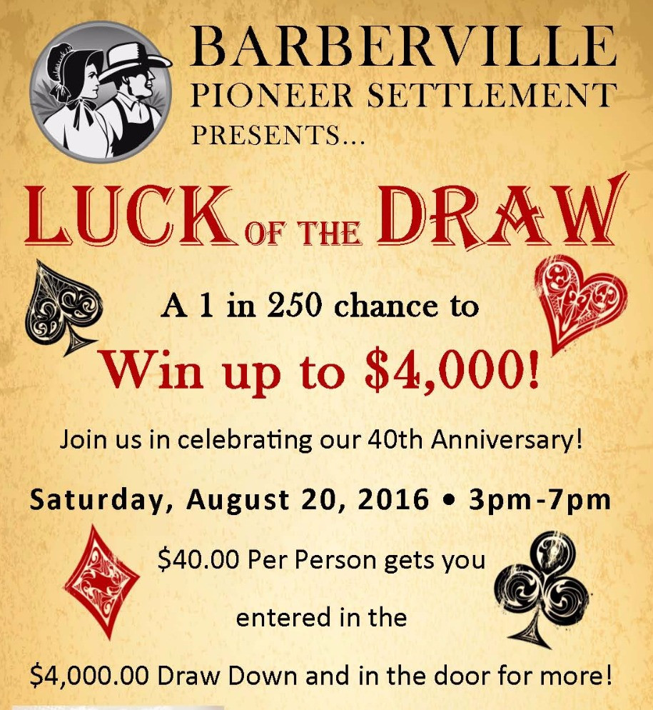 Luck of the Draw Flyer