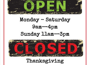 Note our operating hours