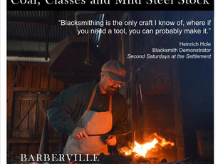 We offer Blacksmithing Classes & Blacksmith Coal