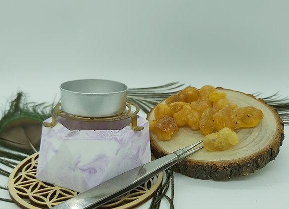 石膏/木制爐組合 (燒乳香/聖木粉)