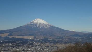 富士と甲斐駒、八ヶ岳