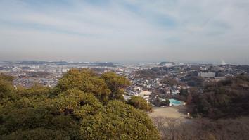 山頂展望台から東京湾方面