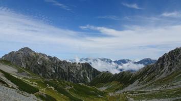 左剱岳と剣沢