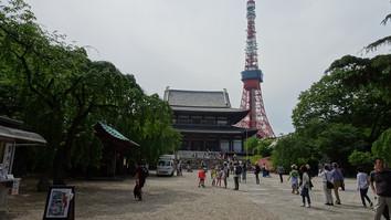 増上寺とタワー