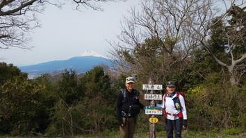富士山と記念撮影