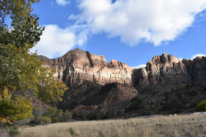 View of Watchman from Pa'rus Trail