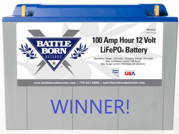 Battle Born Lithium Ion Battery