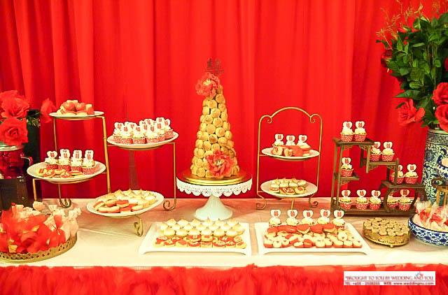 Oriental Chinese Dessert Table