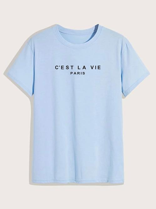 Camiseta azul hombre