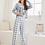 Thumbnail: Conjunto De Pijama Con Estampado De Letra Y Guingán
