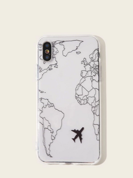 Funda Iphone Mapa blanco