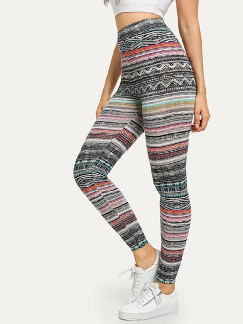 Leggings Con Bandas De Colores
