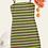 Thumbnail: Vestido De Tirante De Rayas De Arcoíris Tejido
