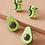 Thumbnail: Pendientes de tachuela 2 pares