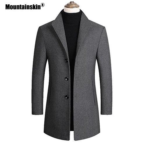Abrigo de lana para hombre