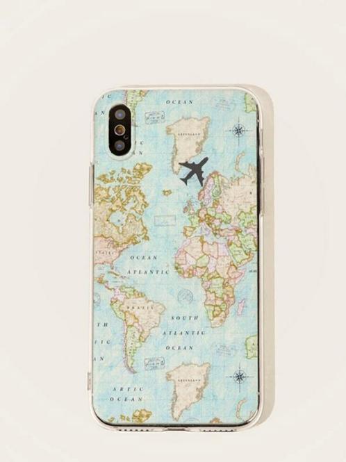 Funda Iphone Mapa Azul