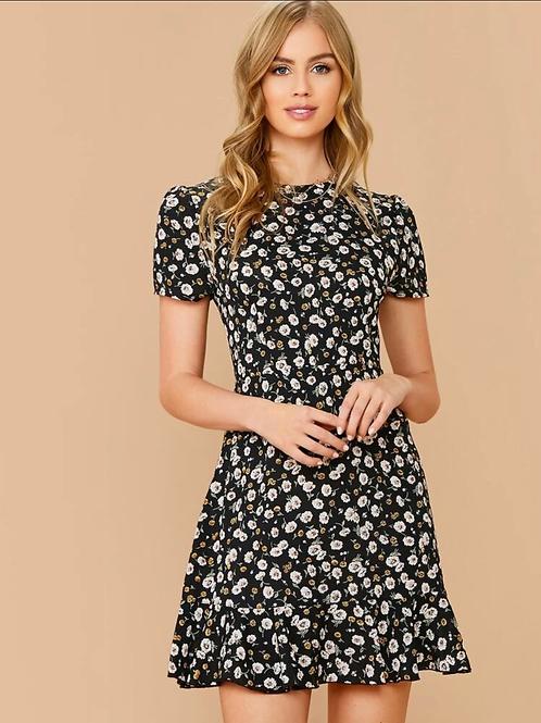 Vestido de línea floral