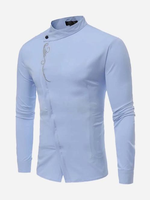 Camisa de hombre con botón delantero