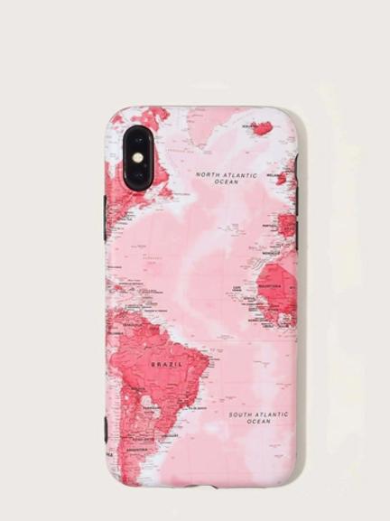 Funda Iphone Mapa Rosa