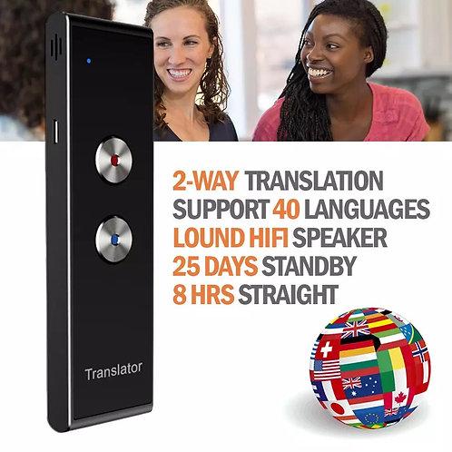 Traductor de voz portátil - 40 idiomas en tiempo real
