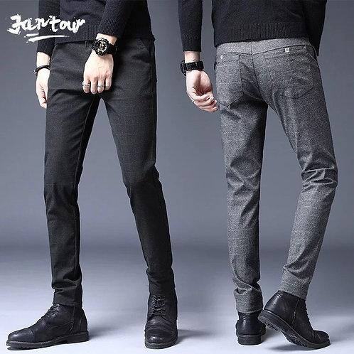 Pantalón para hombre algodón grueso corte recto