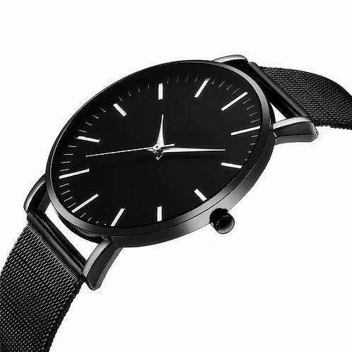 Reloj resistente al agua para hombre - ultrafino de acero inoxidable